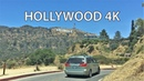 Driving Downtown Hollywood Sign 4K USA