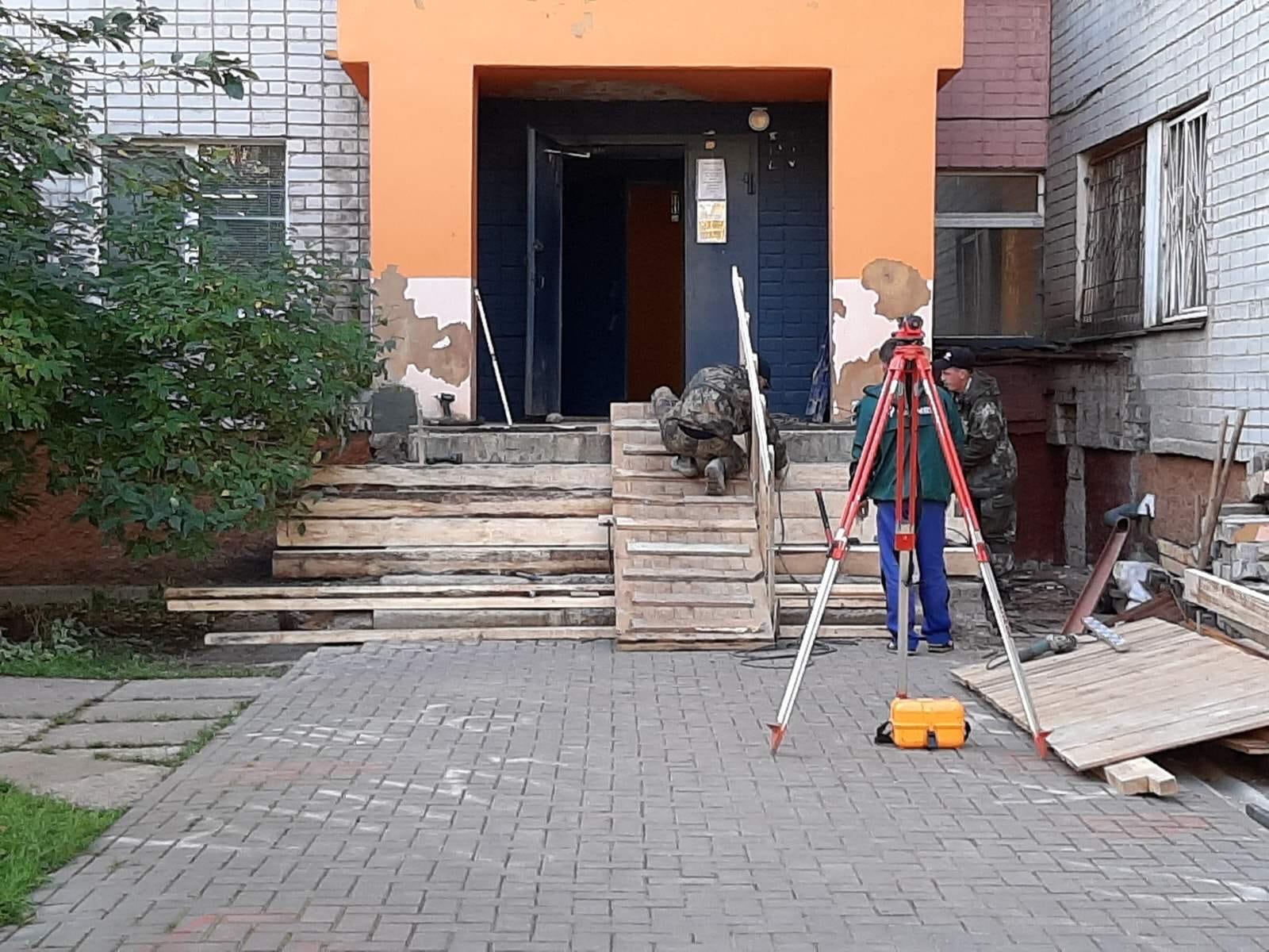 Улица Чехова дом 8 подготовительные работы для