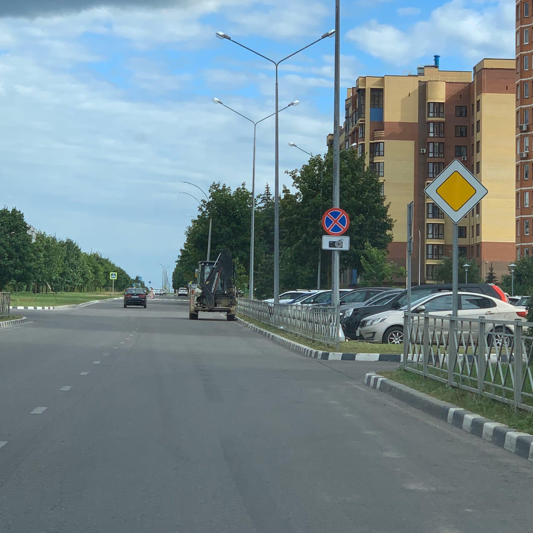 Проспект Ленина в сторону Олимпа, откуда здесь камера, или знак поставили, а про камеру забыли?