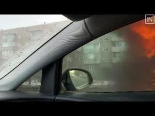 Горит автобус в Первоуральске