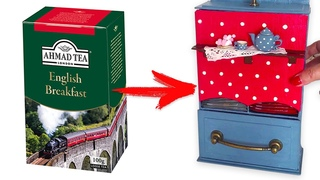 DIY Handmade Miniature House | Tea house | Simple Cardboard Idea