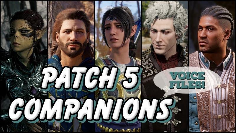 Baldur's Gate 3 Voice Lines Patch 5 Companions SPOILERS