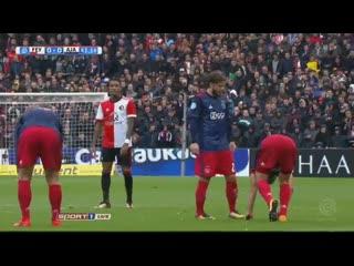 Чемпионат Голландии 2017-18. 9-й тур Фейеноорд - Аякс