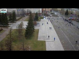 Веб-камеры К24: праздничный забег стартовал в Барнауле