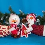 Летающие снеговики из ткани своими руками