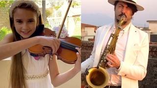 """VIVO PER LEI"" - Daniele Vitale Sax (ft. Karolina Protsenko Violin) QUARANTINE PERFORMANCE"