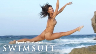 Alexis Ren Wears Nothing But Flowers, Shows Off Puppy Love   Outtakes   Sports Illustrated Swimsuit