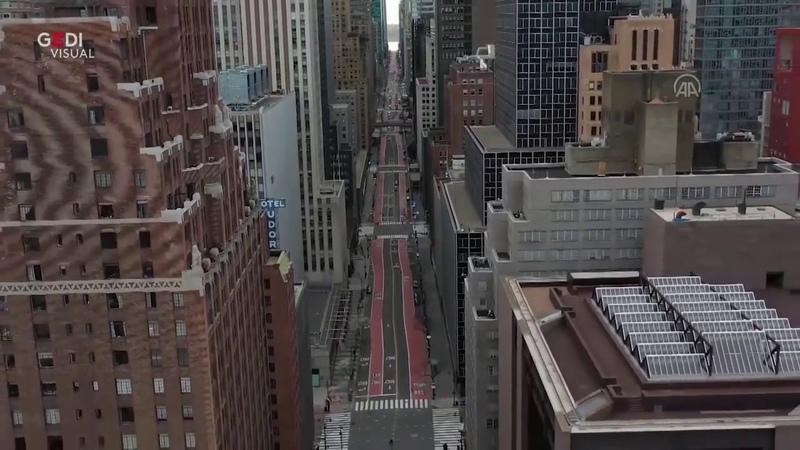 Coronavirus strade deserte a New York per il lockdown le immagini surreali dal drone