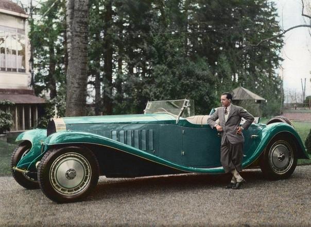 Жан Бугатти рядом с Bugatti Royale «Esders», 1932 год, Франция.