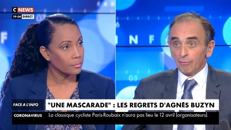 Eric Zemmour Agnès Buzyn s'est ridiculisée Face à l'info 17 03 2020