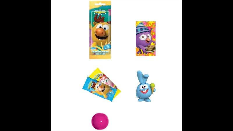 Жвачка Смешарики 2 шт в пакете с фигуркой героя и карточкой заказать по почте наложенным платежом недорого интернет магазин