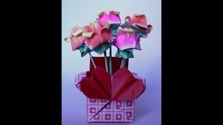 Коробочка с сердечками  Вox with hearts  Svetlana Sokolova  Оригами, весь мир в твоих руках
