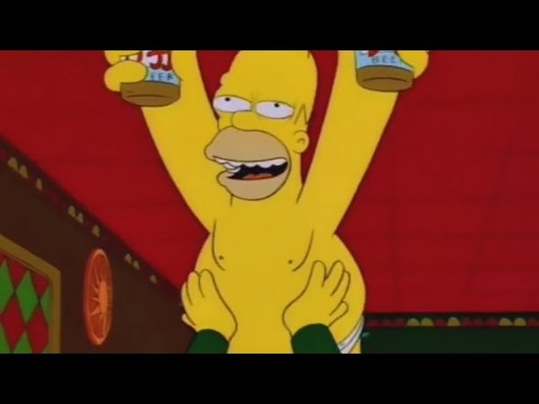 Barney Gumble Tries To Stay Sober - The Simpsons