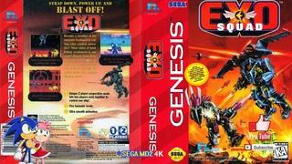 Exo Squad - Level Hard - (Sega Genesis) - Full Longplay [4K]