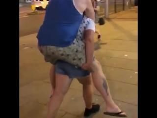11 year old piggybacks her 104 kg dad