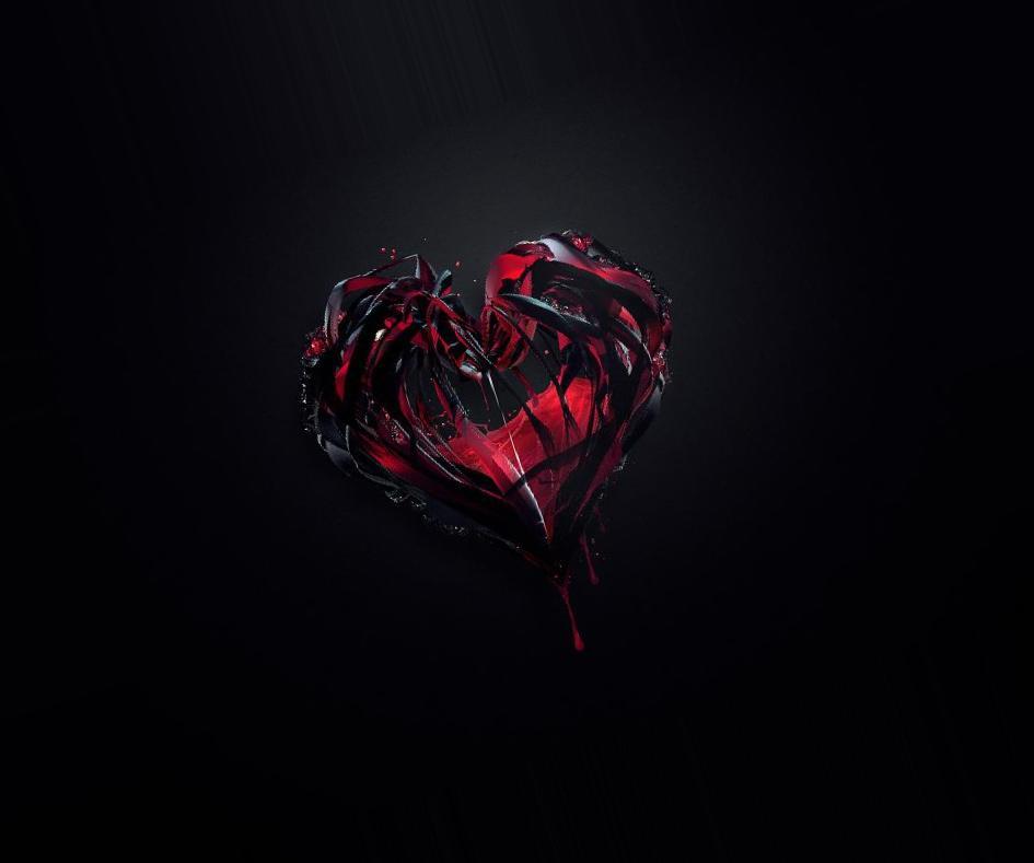 еще картинка черного разбитого сердца открытки