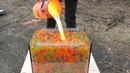 100000 Orbeez VS Lava in Aquarium | Crazy Experiment