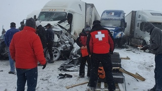#truckerlife #wyoming #killed I80 Wyoming most Dangerous roads in United states Tragedy Recorded Liv