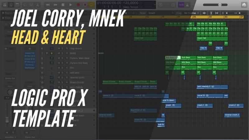 Joel Corry feat. MNEK - Head Heart (Logic Pro X Remake Rework) Logic Pro X Template