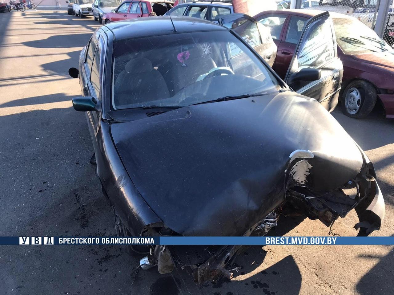 В Ляховичах инспекторы ГАИ задержали пьяного водителя, который совершил ДТП и скрылся