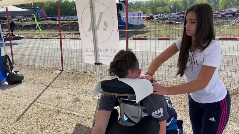 АСМР Видео Массаж FIRST 24h Non Stop KART RACE IN BULGARIA Part2 Massage by MASS MASSAGE Mobile Massage Chair Massage