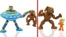 Animal Alien Robot Toys 💟 One Two Three Four Five Comptines et Chansons Pour Bébé Dessins Animés