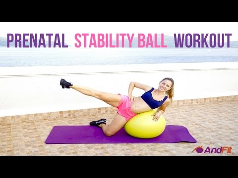 Prenatal Stability Ball Workout For I II Trimester With Andrea Ramirez