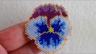 Tuğla Tekniği ile Menekşe Nasıl Yapılır?   How to Make Brick Stitch Violet DIY?
